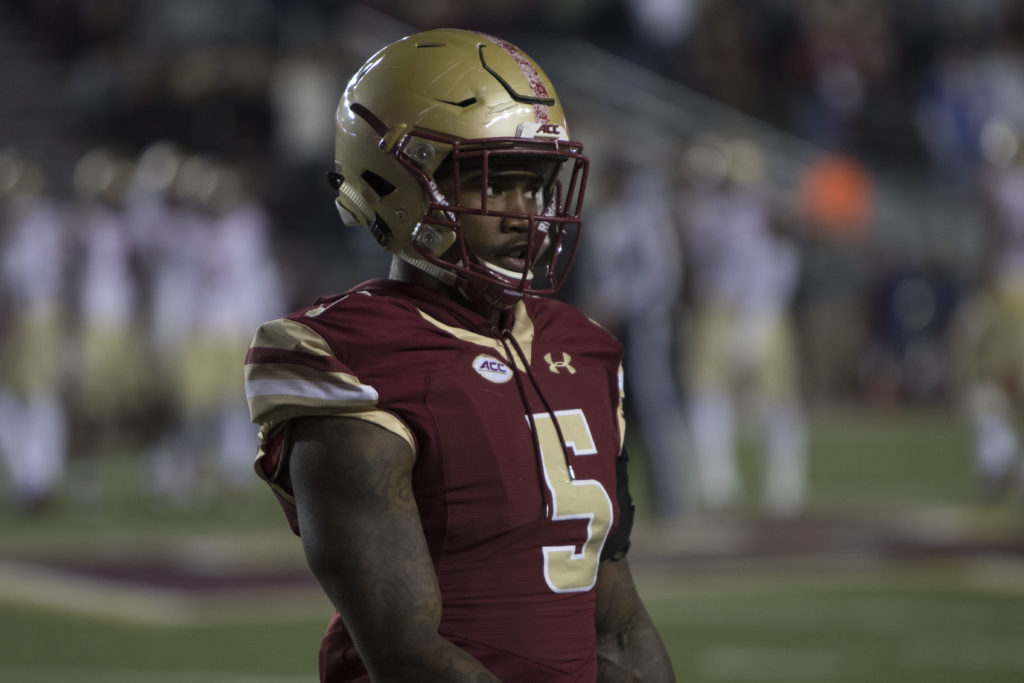 Former BC Cornerback Kamrin Moore Charged With Third-Degree Assault, Suspended by New York Giants