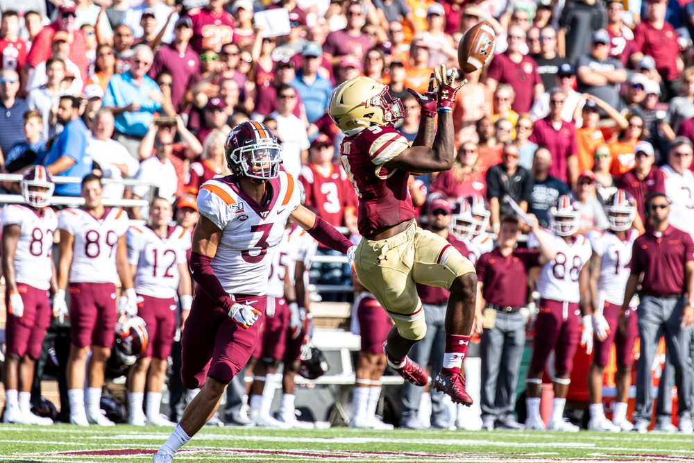 Explosive First Half Carries Eagles Past Virginia Tech in Season Opener