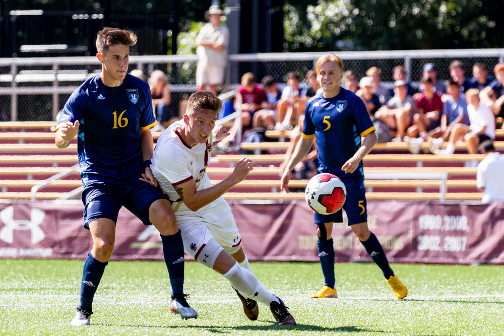 New Contributors Pace Eagles Past Quinnipiac in Season Opener