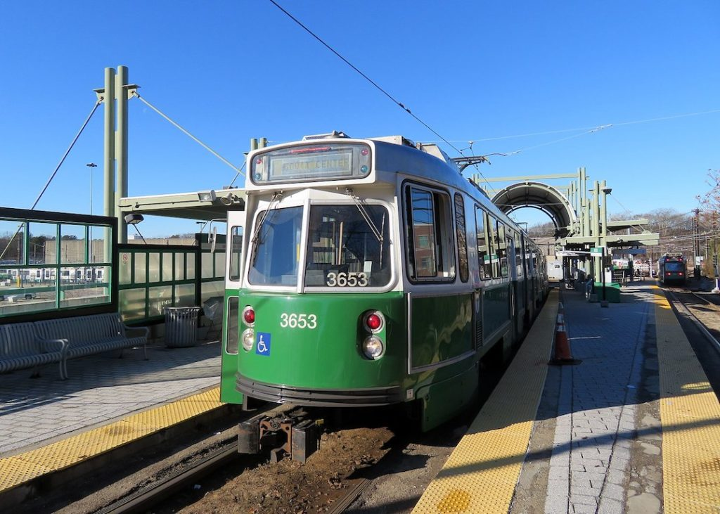 Green Line Car Derails Near Riverside Station