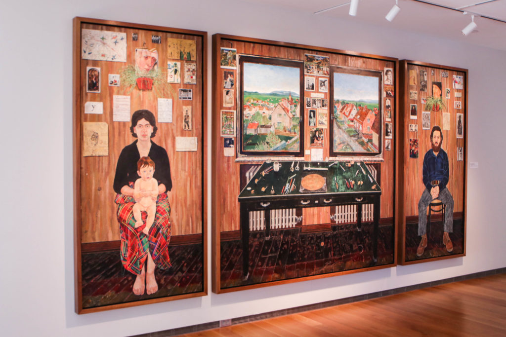 'Fulbright Triptych' Exhibit Comments on Art and Family