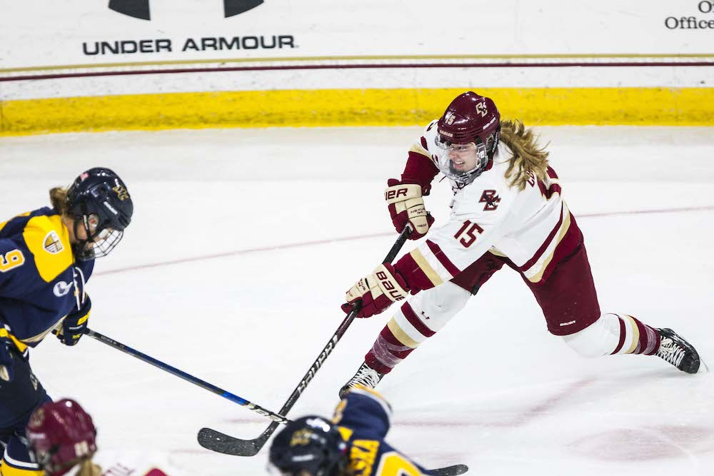 Belinskas' Injury Overshadows BC's Season-Opening Win Against Merrimack