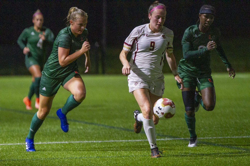 Second-Half Surge Sends Eagles to 4-0 Win Over Miami