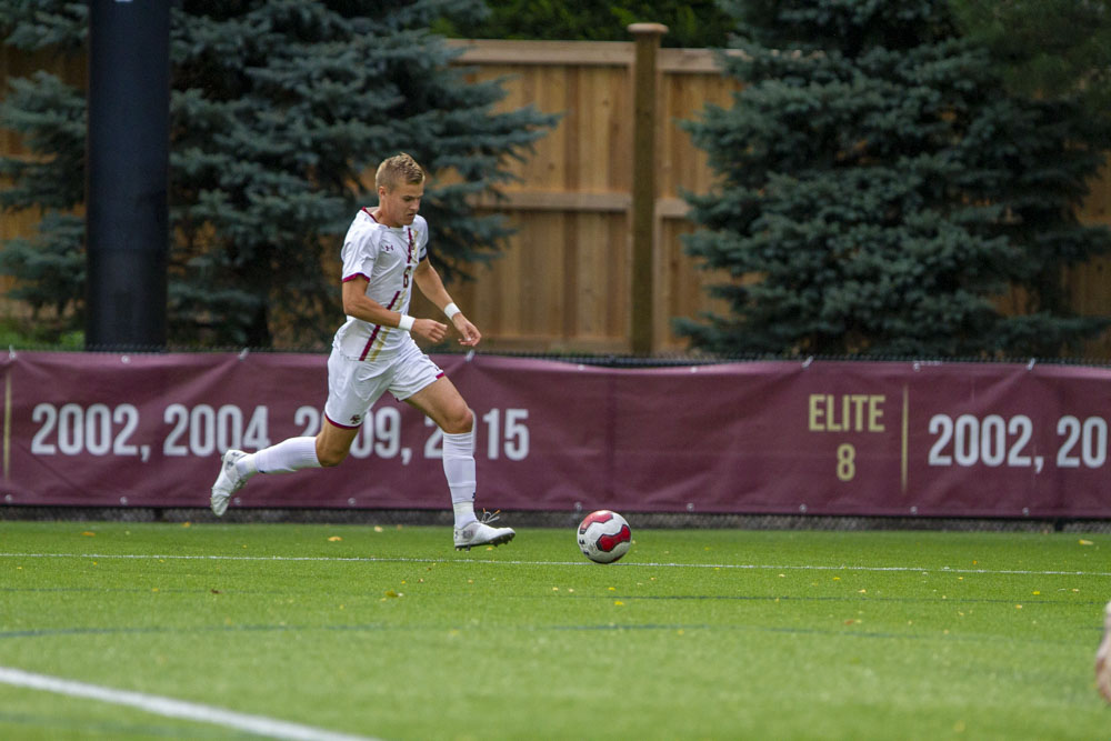 Kellett's 48th-Minute Penalty Lifts BC Over UMass