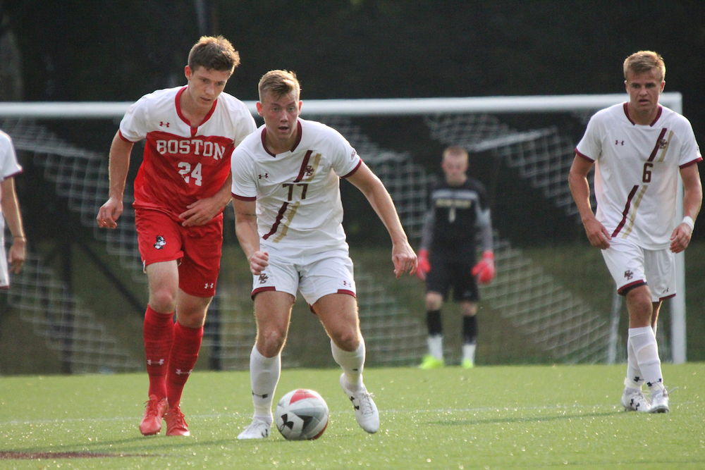 Konradsson's Fourth-Minute Strike Holds up Against Rival BU