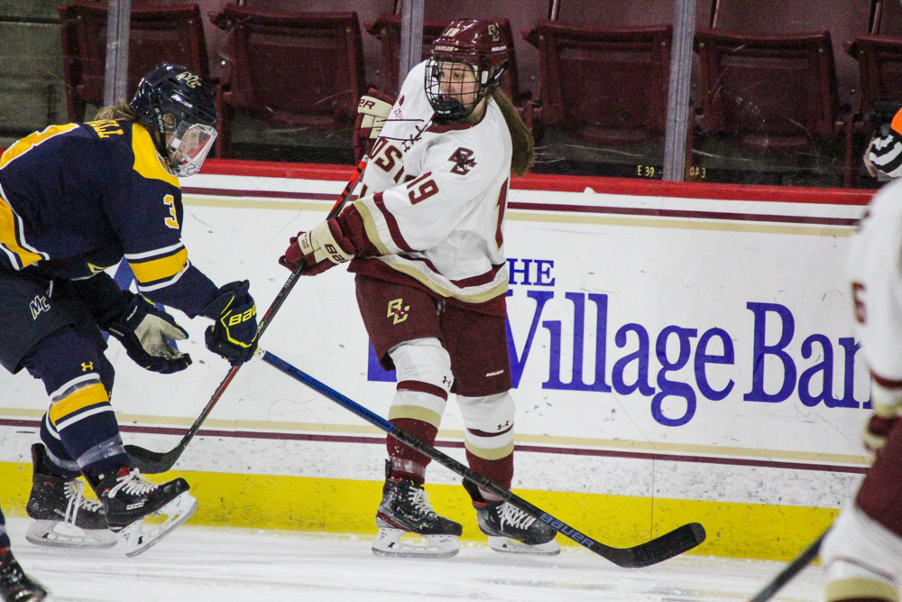 Bilka Scores Twice as BC Beats UVM, Wins Sixth Straight