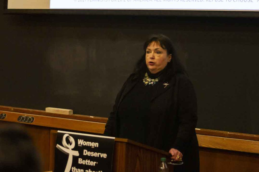 Foster Argues 'The Feminist Case Against Abortion' at Pro-Life Club Event