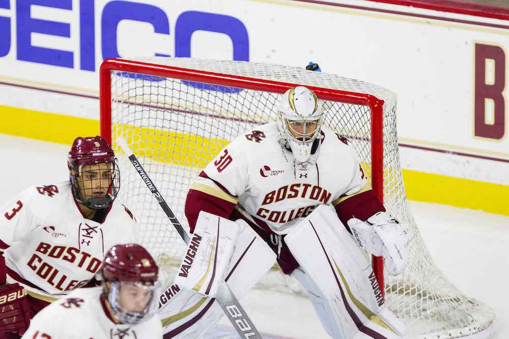 Knight's 39-Save Shutout Leads Eagles Past Colgate