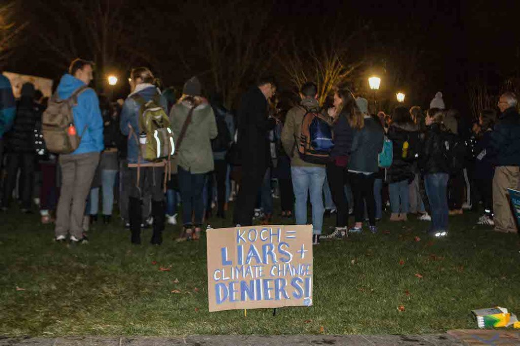 Students Protest Koch Foundation Funding Proposal
