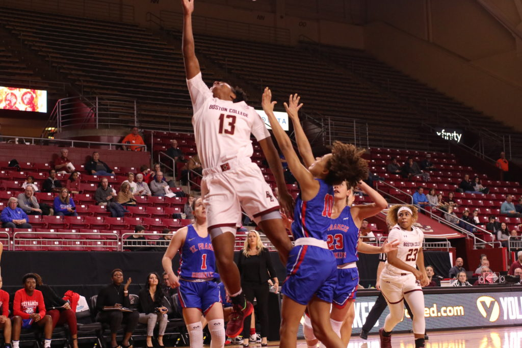 Five Players Score in Double Figures, BC Routs St. Francis Brooklyn