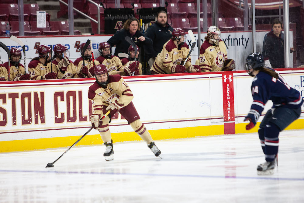 BC Shut Out by BU in First Game of Battle of Comm Ave.
