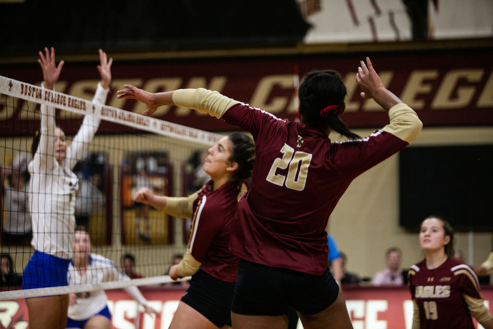 BC Ties Single Season Win Record With Five Set Thriller Over N.C. State