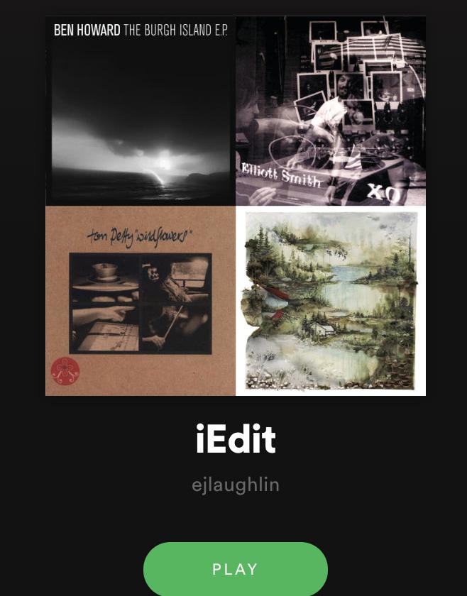 iEdit: Eamon Laughlin's Playlist Delivers Virtual Hug