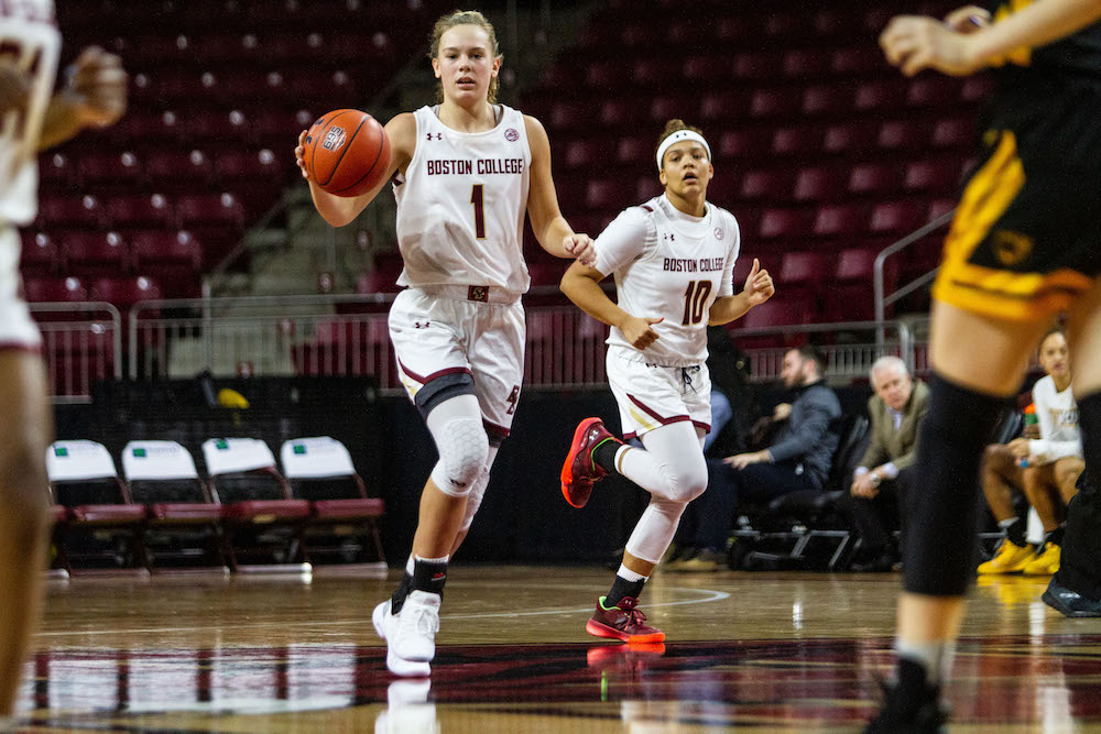 Dickens Registers Career-High Points, Leads BC Past Pitt