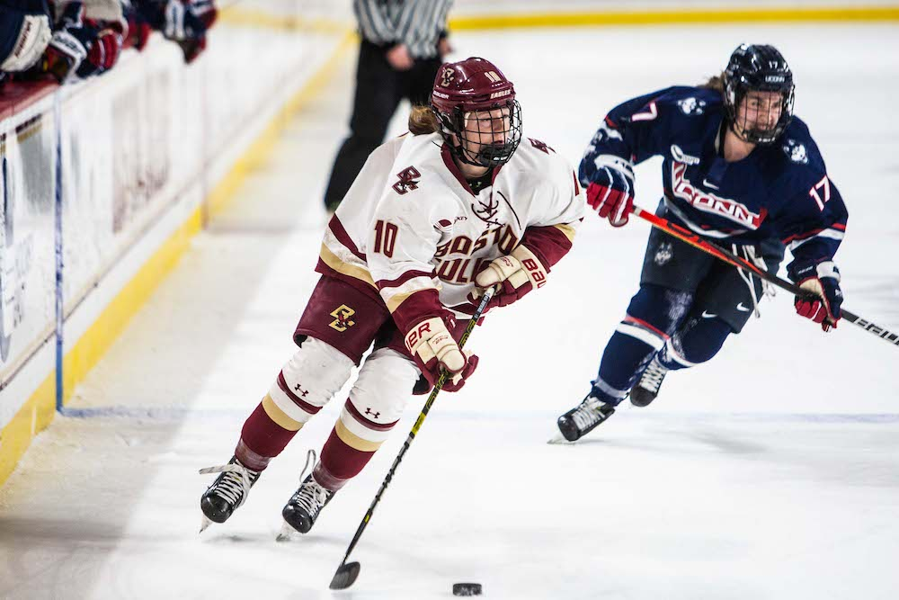 BC Fends Off Late UConn Rally, Earns First HEA Tournament Win