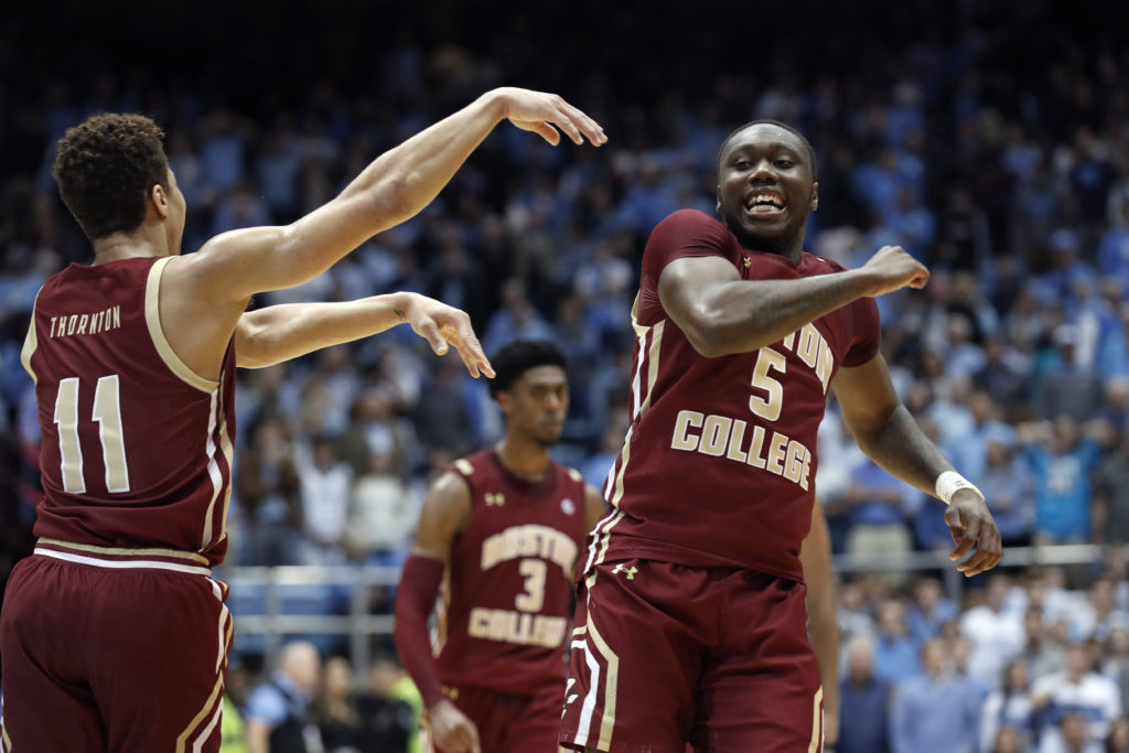 In Back-and-Forth Battle at UNC, Eagles Escape With Win
