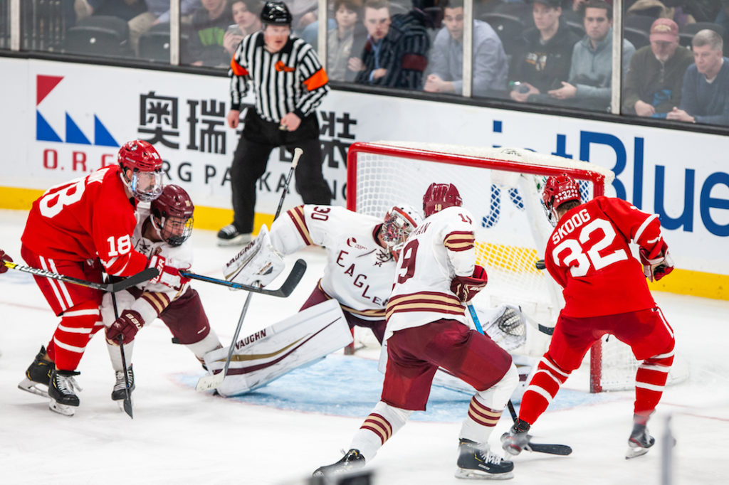 Eagles Blow 3-1 Lead in Double-OT Beanpot Loss to BU