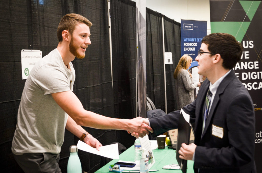 Spring Career Fair Attracts Nearly 1,000 Students