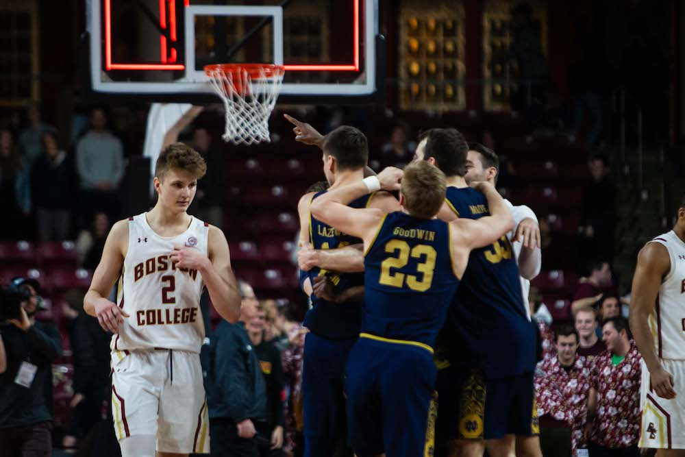 BC Drops First Game of ACC Tournament to Notre Dame