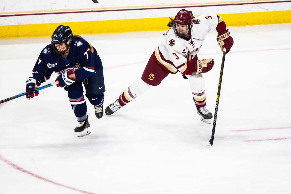 Eagles Come Up Short, Drop from Hockey East Tournament