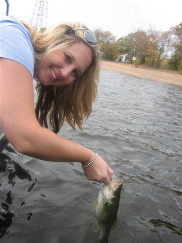 A photo of Carie Breunig's catch