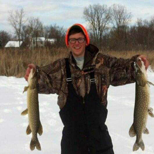 A photo of Tyler Hrutkay's catch
