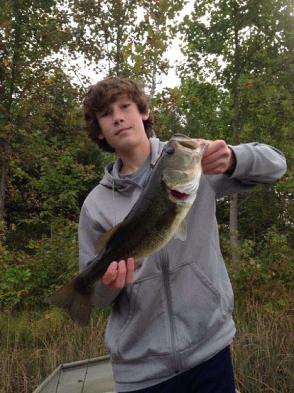 Caught a largemouth bass on little seneca lake using a for Seneca lake fishing report