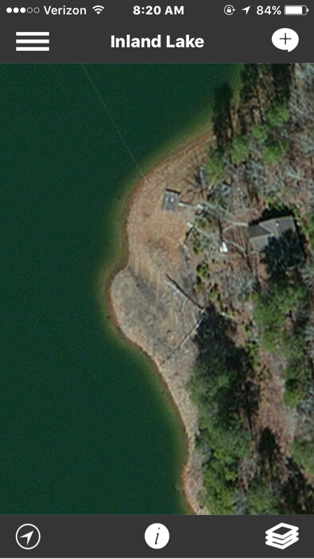 Inland lake al fishing reports map hot spots for Lake guntersville fishing hot spots