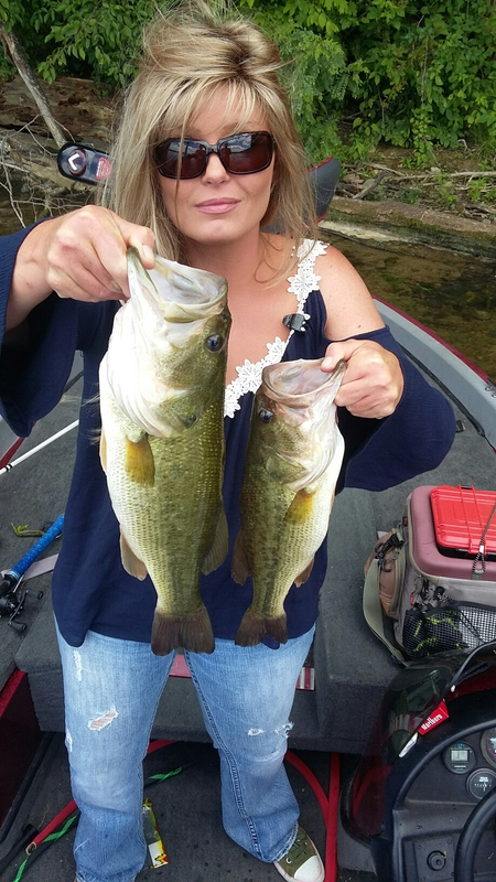 A photo of Melissa Brown's catch