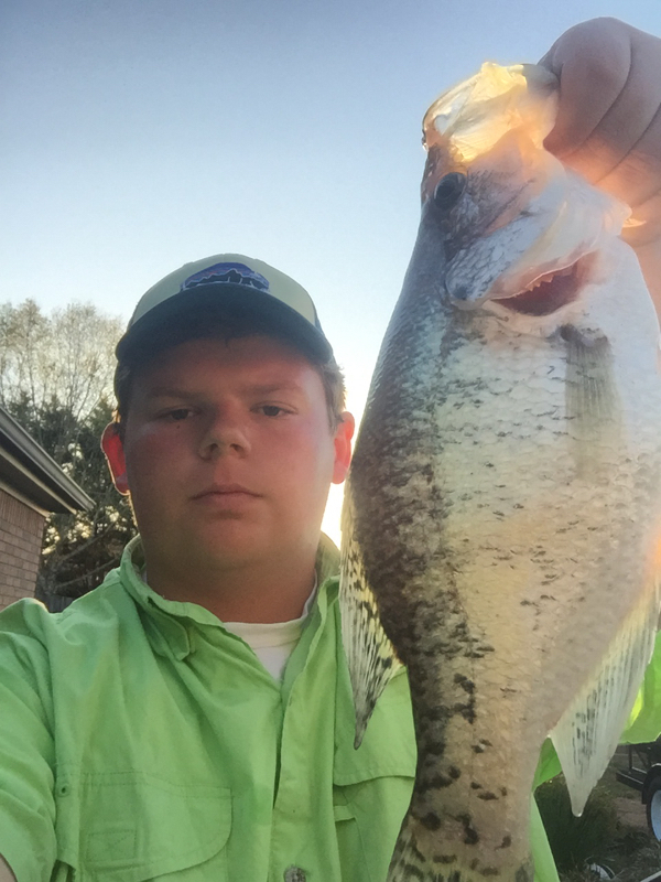 A photo of Lincoln Craigge's catch