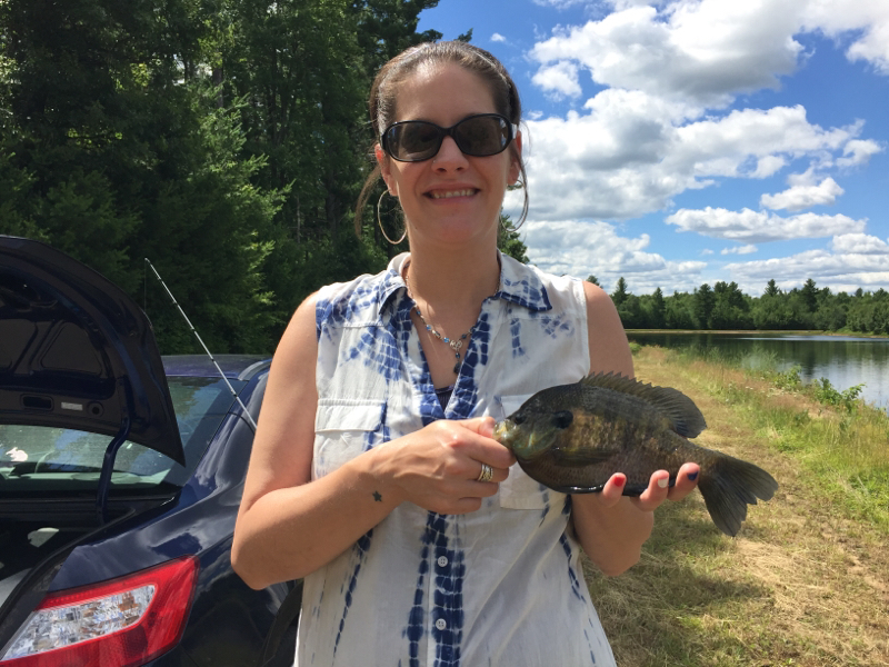 A photo of Sarah Rockey's catch