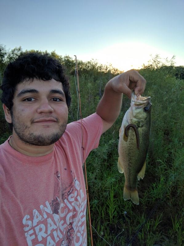 A photo of Manuel Mejia's catch