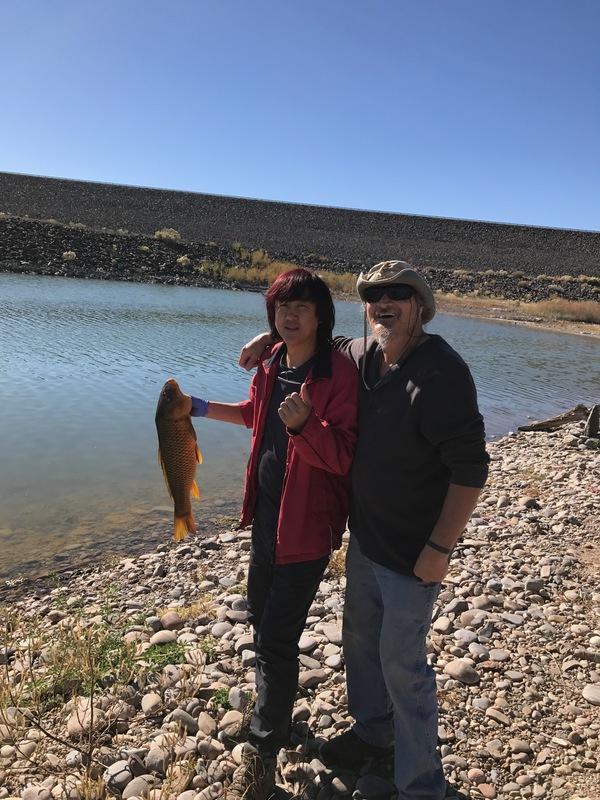 Caught a common carp on cochiti lake using a corn for Cochiti lake fishing