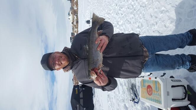 A photo of Nicholas Trampe's catch