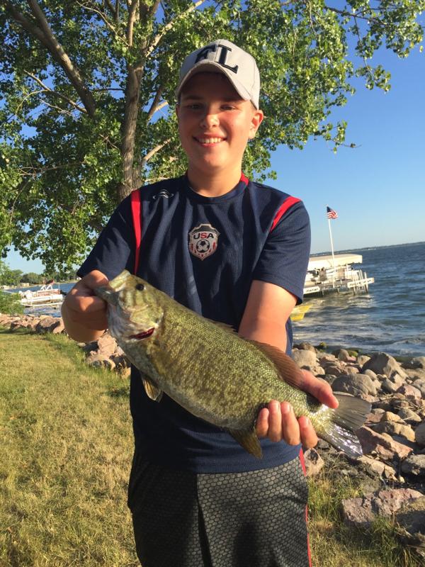 A photo of Grant Schaefer's catch