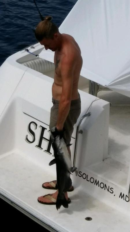 A photo of Joseph Agee's catch