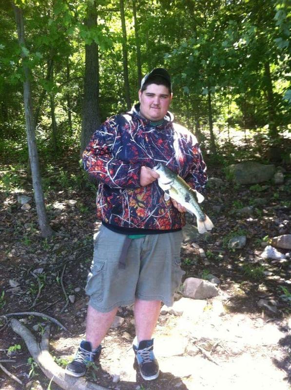 A photo of Jarrett Fike's catch