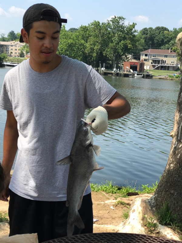 A photo of Jose Marin's catch