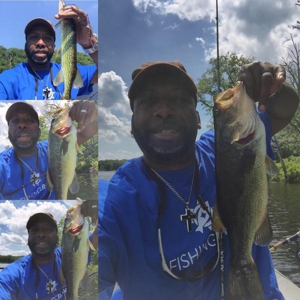 A photo of Tyrone Smith's catch