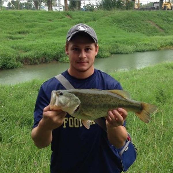 A photo of Gabriel's catch