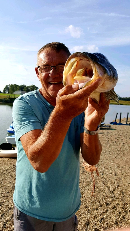 A photo of Ron Dusek's catch