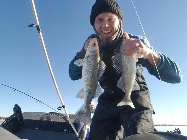 A photo of Gerald Polachek's catch