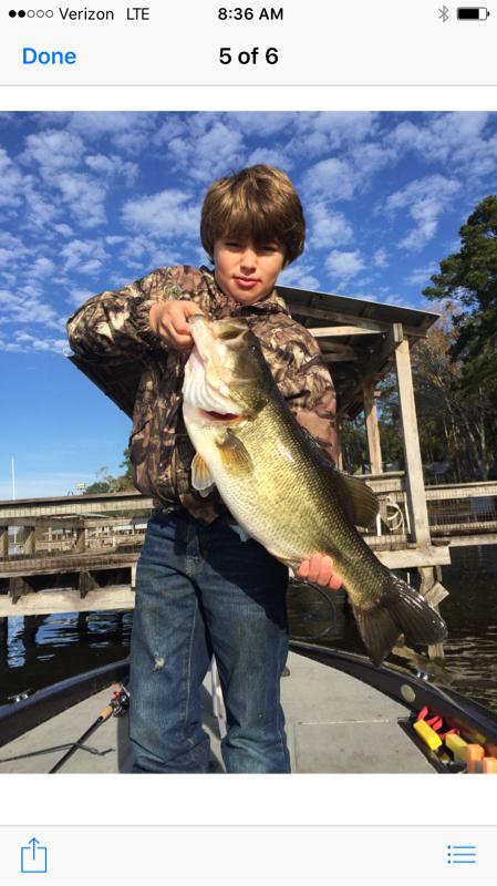 A photo of Nicholas Womble's catch
