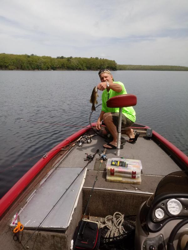 A photo of Vince Burkey's catch