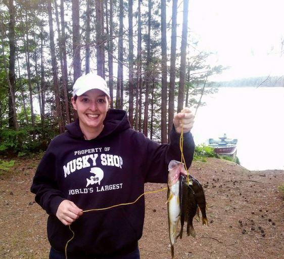 A photo of Kim Wege's catch