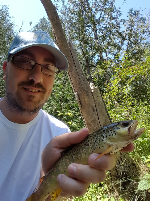 A photo of Nick Bridge's catch