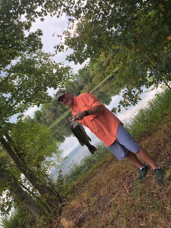 A photo of Rick Hunt's catch