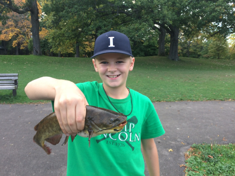 A photo of Isaac Pollock's catch