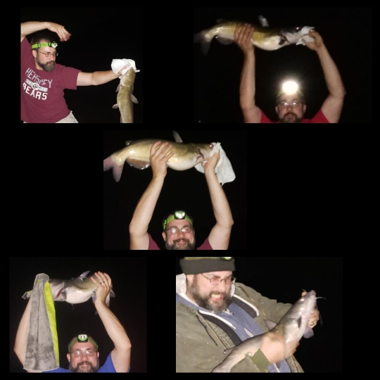 A photo of Christopher Fidler's catch