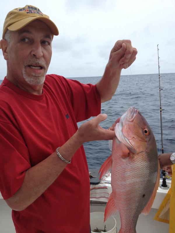 A photo of Mark Calmann's catch